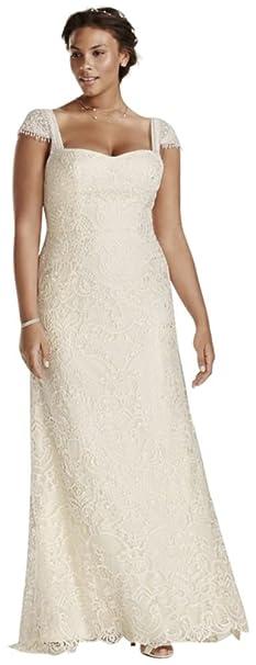 Melissa Sweet Vintage Lace Plus Size Wedding Dress Style
