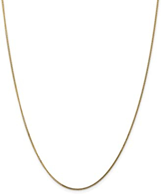 Brilliant Bijou 14k Yellow Gold Solid Polished Light Flat Cuban Chain Necklace