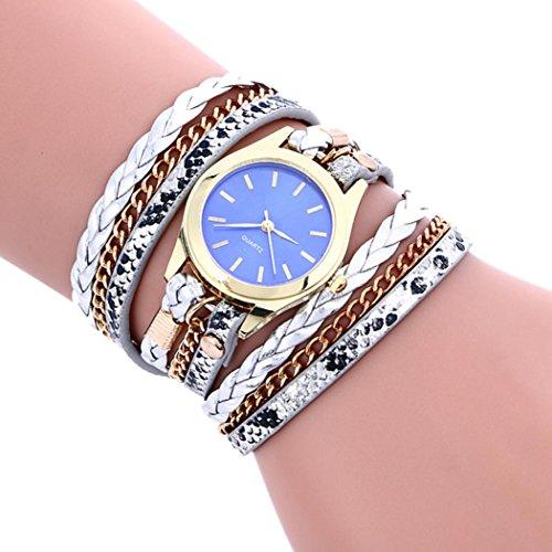 B C Gold Bracelets - Clearance!!! Women's Wristwatch,Jushye Ladies Girls Watches Bohemian Style Fashion Weave Leather Bracelet Lady Womans Wrist Watch (C)
