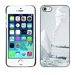 Be Good Phone Accessory // Dura Cáscara cubierta Protectora Caso Carcasa Funda de Protección para Apple Iphone 5 / 5S // White Winter Scenery
