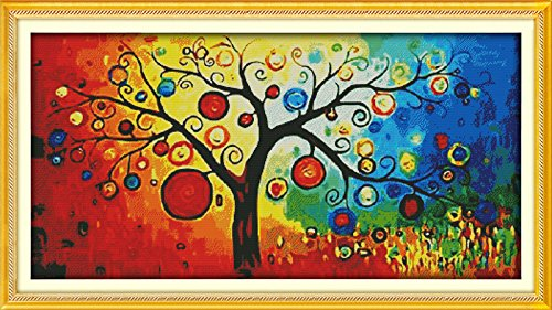 Benway Counted Cross Stitch The Money Tree 14 Count 95X53 CM