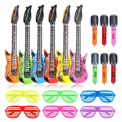 CCINEE Rock Star Party Toys Inflatable Guitars Microphones