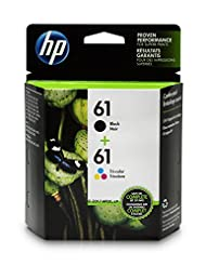 HP 61 Black & Tri-color Original Ink Cartridges, 2 Cartridges...