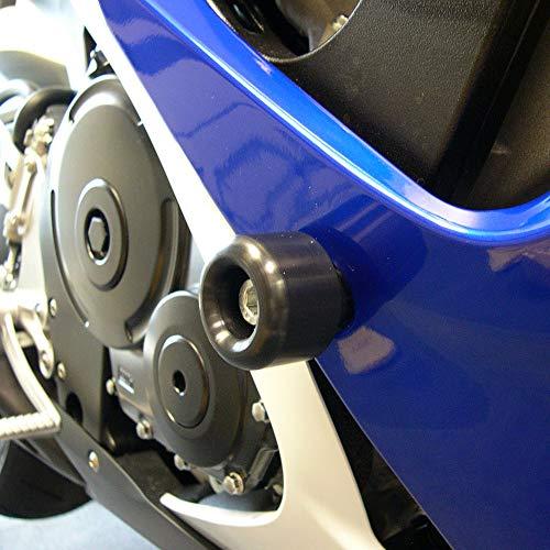 (Shogun 2006 2007 Suzuki GSXR600 GSXR 600 2006 2007 Suzuki GSXR750 GSXR 750 Black Complete Frame Slider Kit Includes Frame Sliders Swing Arm Spools and Bar Ends - 755-5429 - MADE IN THE USA)