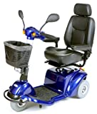 Drive Medical Pilot 3-Wheel Power Scooter, Blue, 18 Inch