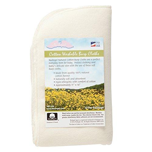 Price comparison product image NuAngel All-Natural Single Layer Cotton Burp Cloths