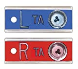 X-Ray Markers, Elite Style - Positioning Beads, 2-3 Initials, SET, L&R 1/2'', Horizontal