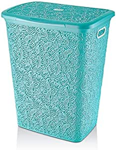 Laundry Basket By Hobby Life, 57Liter, Turquoise