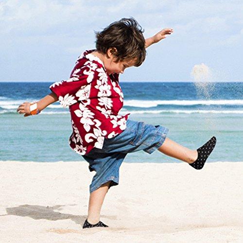 Cior Uomini Donne E Bambini Quick-dry Water Shoes Calze Aqua Leggere Per Beach Pool Surf Yoga Esercizio 06 Nero