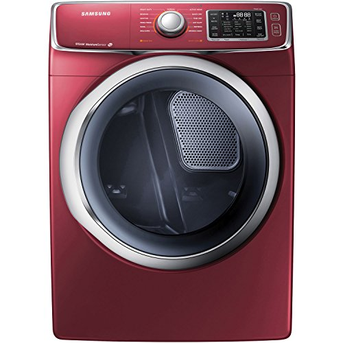 Samsung DV42H5400GF 7.5 Cu. Ft. Front-Load Gas Steam Dryer with Drying Rack, Merlot (Washer Dryer Load Stacked Front)
