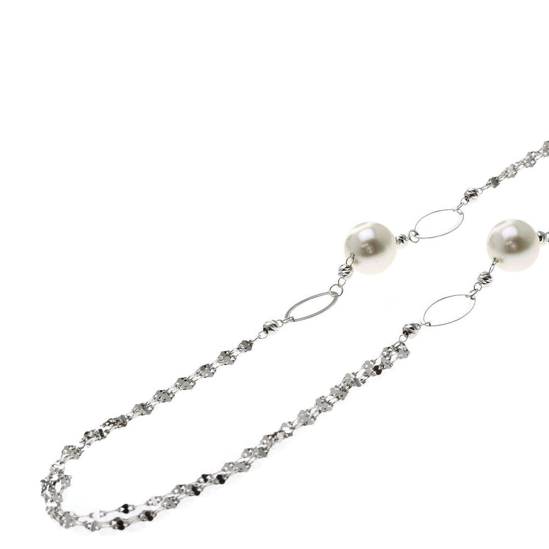 [セレクトジュエリー]パール/真珠 ネックレス K18ホワイトゴールド レディース (中古) B07CSPZNBF