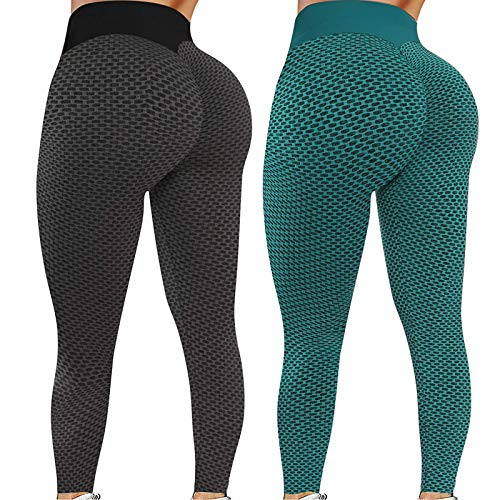 Yelwatfri 2 Pack TIK Tok Leggings, Women High Waist Leggings Yoga Pants