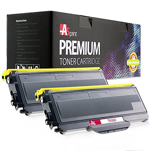 ASprint 2 Pack Compatible Brother TN-330 TN330 TN-360 TN360 Black High Yield Toner Cartridges for HL-2140 HL-2170W DCP-7030 DCP-7040 DCP-7045N MFC-7340 MFC-7345N MFC-7345DN MFC-7440N MFC-7840W Printer