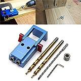 Pocket Hole Jig Kit,Yingte Mini Pocket Hole Jig Kit Woodwork Guide Woodworking Tool