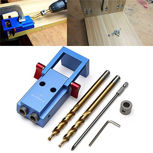 Pocket Hole Jig Kit,Yingte Mini Pocket Hole Jig Kit Woodwork Guide Woodworking Tool by Yingte (Image #1)