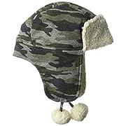 Mud Pie Baby Boys' Sherpa Hat, Camo, 0-12 MOS