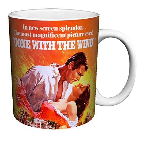 Gone with the Wind Flames Classic Hollywood Romance Movie Film Ceramic Gift Coffee (Tea, Cocoa) 11 Oz. Mug