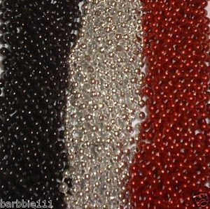 - 72 Red Silver Black Mardi Gras Gra Beads Necklaces Party Favors 6 Doz Lot Pirate