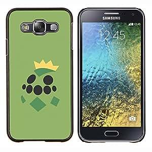 Grean Tortuga de Poke Monster- Metal de aluminio y de plástico duro Caja del teléfono - Negro - Samsung Galaxy E5 / SM-E500