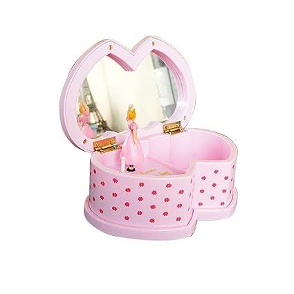 9d0ab33458c99 Cadeau Créatif Saint-Valentin Ballerine Boîte à Musique avec Miroir pour  Fille en Forme de