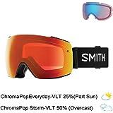 Smith Optics Io Mag Adult Snow Goggles - Black/Chromapop Everyday Red Mirror