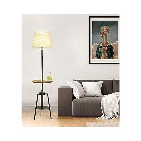 MASOSER Lámpara de pie americana Lámpara decorativa de ...