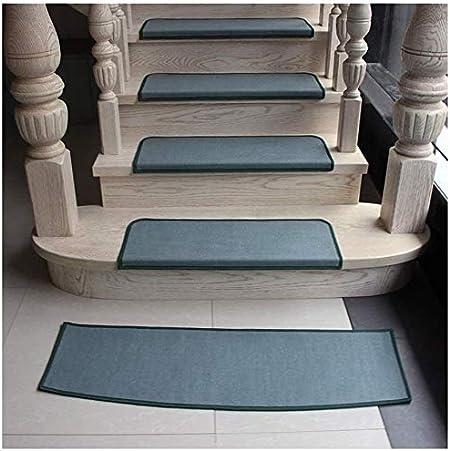 ZHAS Peldaños para peldaños Peldaños para peldaños, sin Adhesivo Color Autoadhesivo Mute Alfombra Alfombra para escaleras Alfombrilla para casa de Madera Maciza Pisada para escaleras (Color: paqu: Amazon.es: Hogar