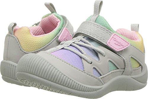 (OshKosh B'Gosh Abis Girl's Protective Bumptoe Sneaker, Multi Color, 7 M US)