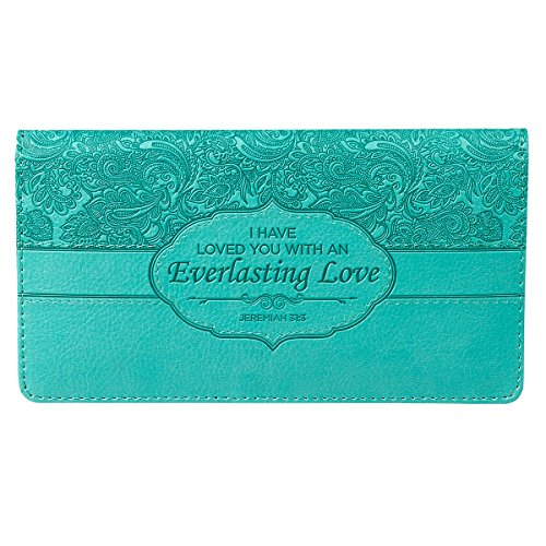 Turquoise-Everlasting-Love-Checkbook-Cover
