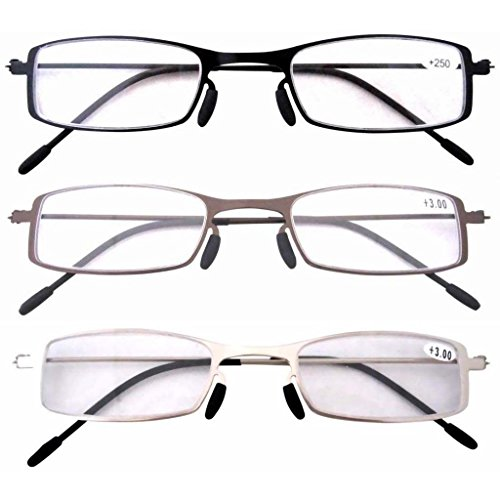 Eyekepper 3 Pcs Mix Unique Lightweight Stainless Steel Frame