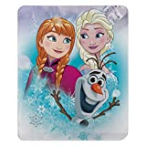 "Disney Frozen, ""Snow Journey"" Fleece Throw Blanket, 45"" x 60"", Multi Color, 1 Count"
