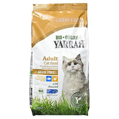 Yarrah Bio croquettes au poulet et poisson sans céréales pour chat 800 grs