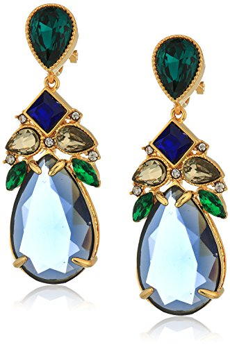 Carolee Pacific Gala Stone Embellished Tear Drop Earrings Carolee Jewelry