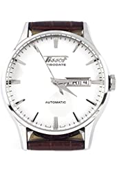 Tissot Visodate White Dial SS Leather Automatic Men's Watch T0194301603101