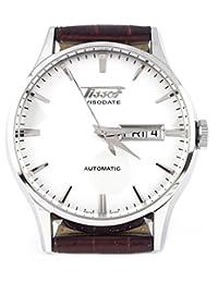Tissot Visodate Automatic Quartz Brown Band White Dial Men's Watch - T0194301603101