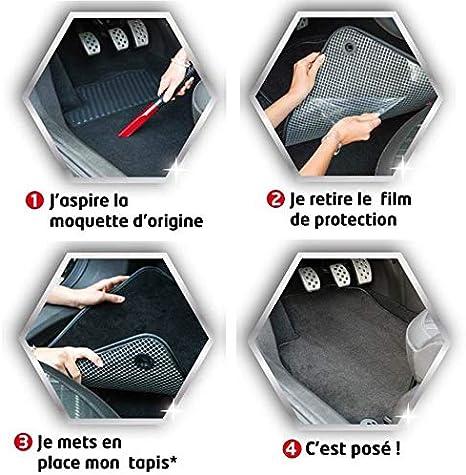 Tapis de Sol antid/érapant pour Automobile - 4 pi/èces Moquette Basic sur Mesure pour C4 DBS Tapis de Voiture 2004-2011