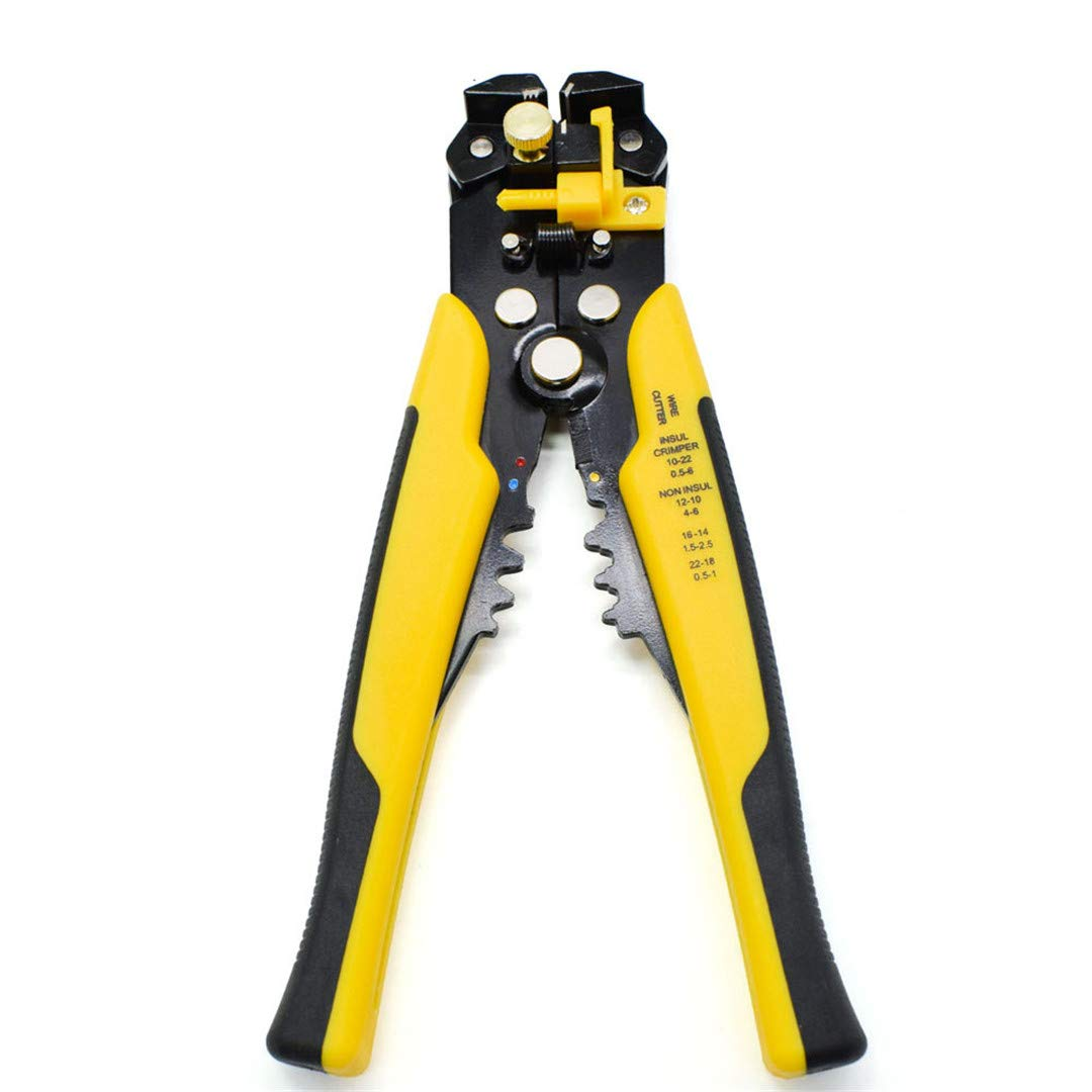 Cable Wire Stripper Cutter Crimper Automatic Multifunctional Crimping Stripping Plier Tools Electric Yellow