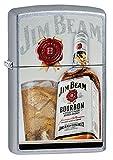 Zippo Jim Beam Bourbon Pocket Lighter, Street Chrome