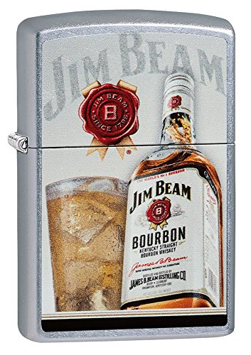 (Zippo Jim Beam Bourbon Pocket Lighter, Street Chrome)