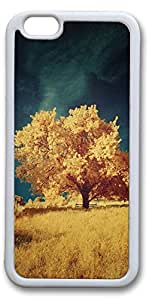 iPhone 6 Cases, Autumn Yellow Tree Personalized Custom Soft TPU White Edge Case Cover for New iPhone 6 4.7 inch