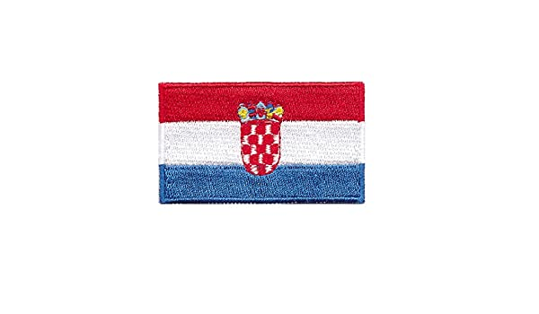 """Flag of Croatia Iron On Patch 2.5/"""" x 1.5/"""" inch Free Shipping Small"""