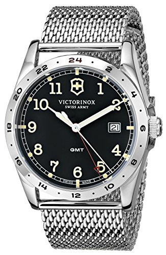 Victorinox Unisex 241649 Infantry Stainless Steel Watch with Mesh Bracelet