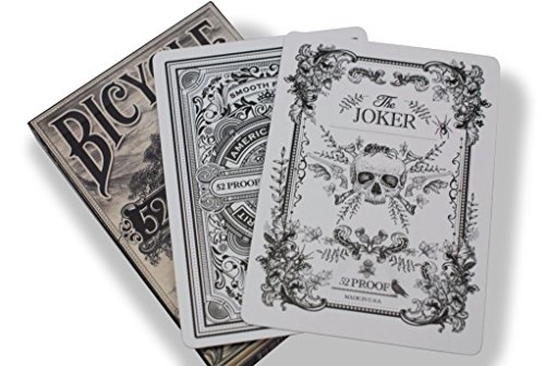 Bicycle 52 Proof Playing Cards by Ellusionist - High Quality Finish, Thick Stock (Prohibition Attire)