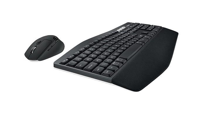 Logitech MK850 Performance 920-008228 - Teclado y Ratón Inalámbricos, USB, Bluetooth (Querty Español), Negro