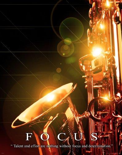 Music Instruments Motivational Poster Art Print 11x14 Saxaphone Jazz Band Teacher Lessons Sheet Music Wall Decor Pictures