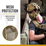 "OneTigris 6"" Foldable Half Face Airsoft Mesh Mask"