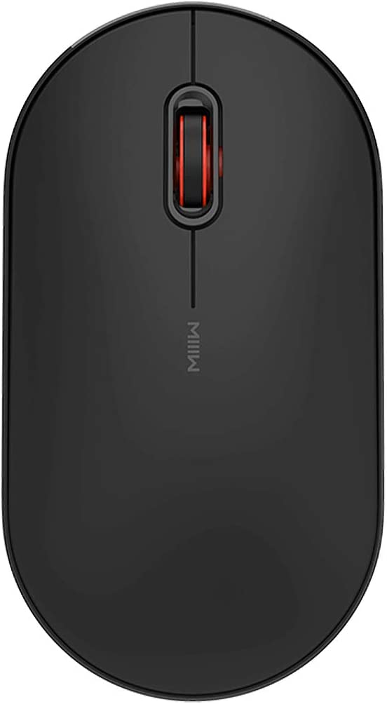 MIIIW M15C Dual Mode Wireless Bluetooth Mouse, Universal Ultra-Slim Compact Portable Mouse (Bluetooth 4.0+2.4G USB) with 1200DPI, Silent Click, Compatible with Windows, Mac, iOS, Android, Black