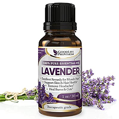 Lavender Oil - 100% Pure & Natural, Undiluted and Unfiltered, GMO Free, Premium Quality 1Oz / Helps Skin Care & Anti-ageing, Relieve Joint & Muscle Pain, Stress & Anxiety, Help Improve Sleep