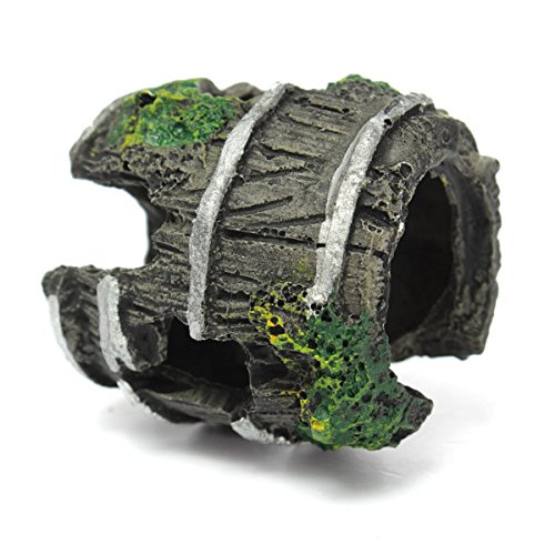 Fish & Aquatic Pets - Aquarium Miniature Resin Barrel Ornament Fish Tank Cave Landscaping - Uniforms Landscaping Miniature Resin Fish Barrel - - Hunt Co And Sunglasses