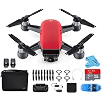 DJI Spark Drone Mini Quadcopter Fly More Combo Portable Drone,Lava Red